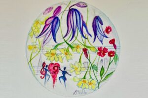 Garland of Bluebells Artwork by Sonal Noble